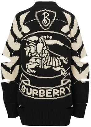 Burberry Intarsia Crest Cardigan