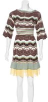 M Missoni Chevron Pattern Mini Dress