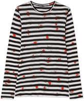 Proenza Schouler Printed Cotton-jersey Top - Black