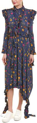 Vetements Ruffle Midi Dress
