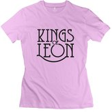 Crystal Women's Kings Of Leon Screw Neck Design T-Shirt US Size M