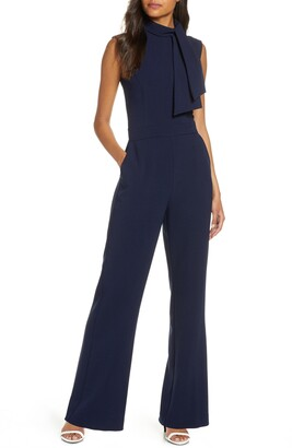 Harper Rose Scarf Neck Crepe Jumpsuit