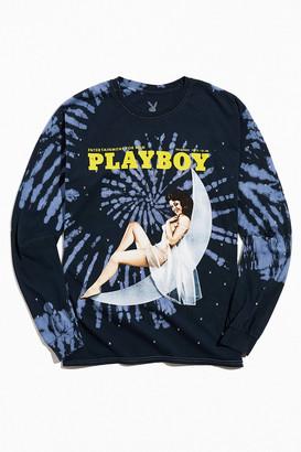 Urban Outfitters Playboy Retro Tie-Dye Long Sleeve Tee