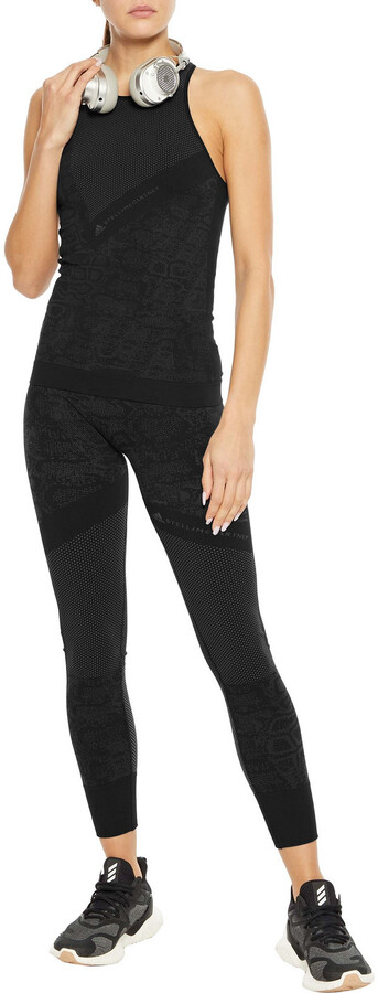 Thumbnail for your product : adidas by Stella McCartney Essentials Seamless Stretch-jacquard Tank