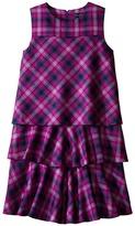 Oscar de la Renta Childrenswear Plaid Wool A-Line Layered Dress (Toddler/Little Kids/Big Kids)