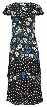 Dorothy Perkins Womens Billie & Blossom Tall Floral Spot Wrap Midi Dress