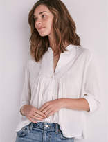 Lucky Brand Long Sleeve Vicky Pintuck Top