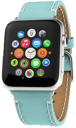 Victoria Emerson Sky Blue Leather Apple Watch Band