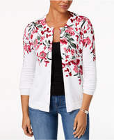 Karen Scott Printed Cardigan, Created for Macy's