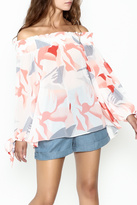 Lucy Paris Printed Blouse