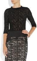 Nina Ricci Wool-blend lace top