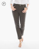 Chico's Polka Dot Girlfriend Ankle Jeans