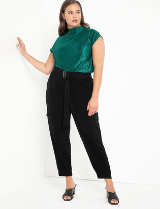 ELOQUII Relaxed Cargo Pant with Cuff
