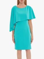 Gina Bacconi Korina Asymmetric Cape Dress