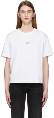 Acne Studios White Reverse Logo T-Shirt
