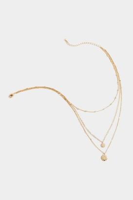 francesca's Hannah Coin Pendant Layered Necklace - Gold