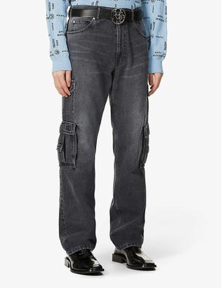 Martine Rose Patch-pocket straight denim jeans