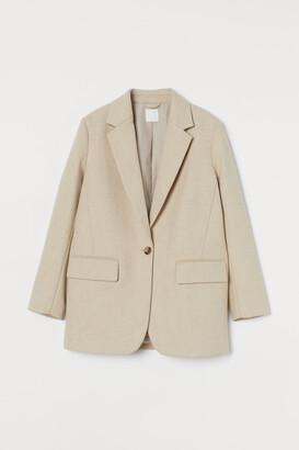 H&M Wool-blend Blazer - Beige