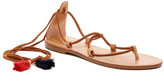 Soludos Wraparound Tassel Tie Flat Sandal