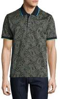 Robert Graham Kamden Pixelated Paisley Polo Shirt, Navy