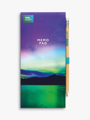 BBC Earth Northern Lights Notepad & Pencil