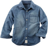 Carter's Long-Sleeve Denim Woven Chambray Shirt - Boys 4-8