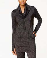 Soybu Traverse Space-Dyed Cowl-Neck Tunic
