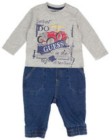 Guess Two-Piece Graphic Tee and Pants Set