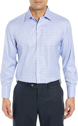 English Laundry Regular Fit Plaid Dress Shirt