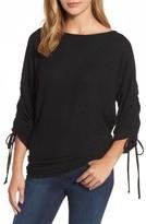 Gibson Women's Tie Sleeve Cozy Fleece Top