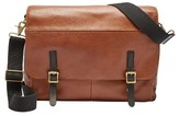 Fossil Men's Defender Leather Messenger Bag - Metallic