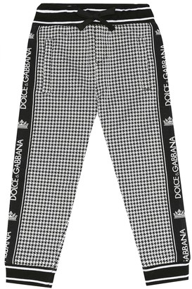 Dolce & Gabbana Kids Checked cotton-blend trackpants