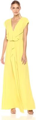 BCBGMAXAZRIA Azria Women's Evette Woven Ruffle Dress