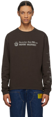 Phipps Brown Smokey Fire Safety Long Sleeve T-Shirt