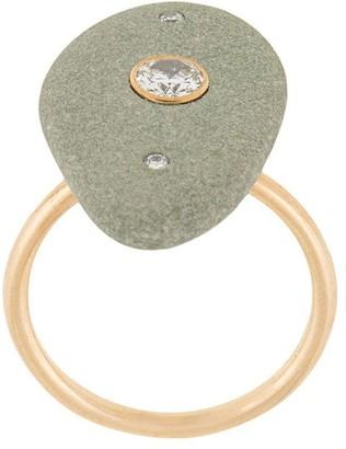 Cvc Stones 18kt yellow gold Aravalli pebble diamond ring