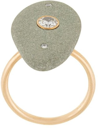 Cvc Stones 18kt yellow gold Aravalli pebble diamond ring