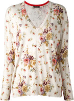 Twin-Set floral v-neck sweater - women - Cotton/Viscose - S