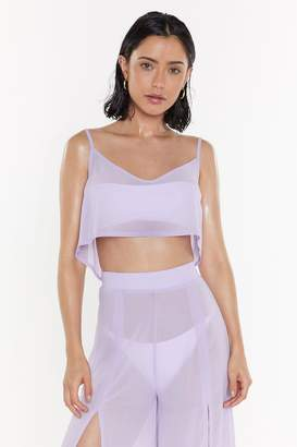 Nasty Gal Womens Sittin' On The Dock Of The Bay Cover-Up Top - Purple - 4, Purple