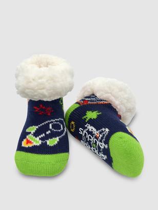 Pudus Toddler Classic Slipper Socks | Space Navy