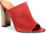 Calvin Klein Women's Janica Peep-Toe Mules