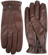 Black Brown 1826 Semi Aniline Leather Three-Point Gloves