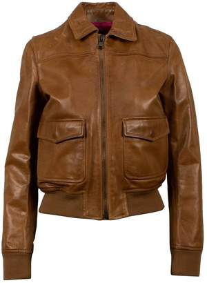 RED Valentino Brown Leather Jackets
