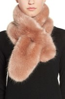Halogen Faux Fur Pull Through Scarf