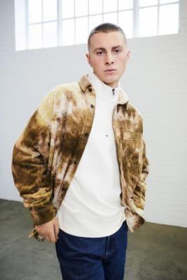 BDG Brown Tie-Dye Jumbo Corduroy Shirt - Brown S at Urban Outfitters