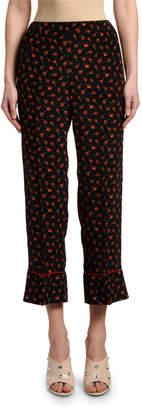 No.21 No. 21 Candy-Print Cropped Pajama Pants