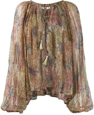 Mes Demoiselles Acacia transparent print blouse
