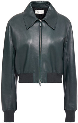 The Row Zarla Leather Bomber Jacket