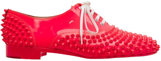 Christian Louboutin Pink Patent Leather Pigalle Spikes Shoes Size 38.5