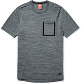 Nike Mélange Tech Knit Cotton-Blend T-Shirt
