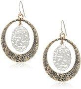 Barse Bronze and Sterling Silver Orbital Drop Earrings